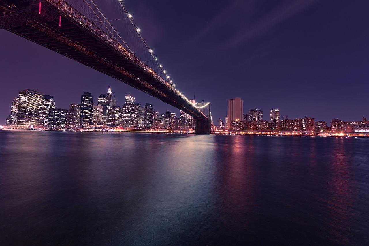 Brooklyn Bridge, NYC At Night