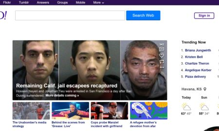 Updated Yahoo.com Homepage