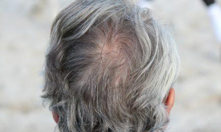 Grey Hair Head